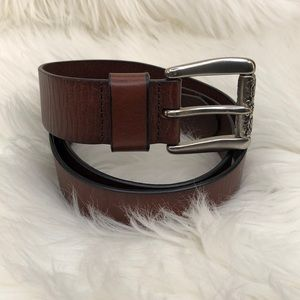 Fossil Brown Leather Medium Size Belt